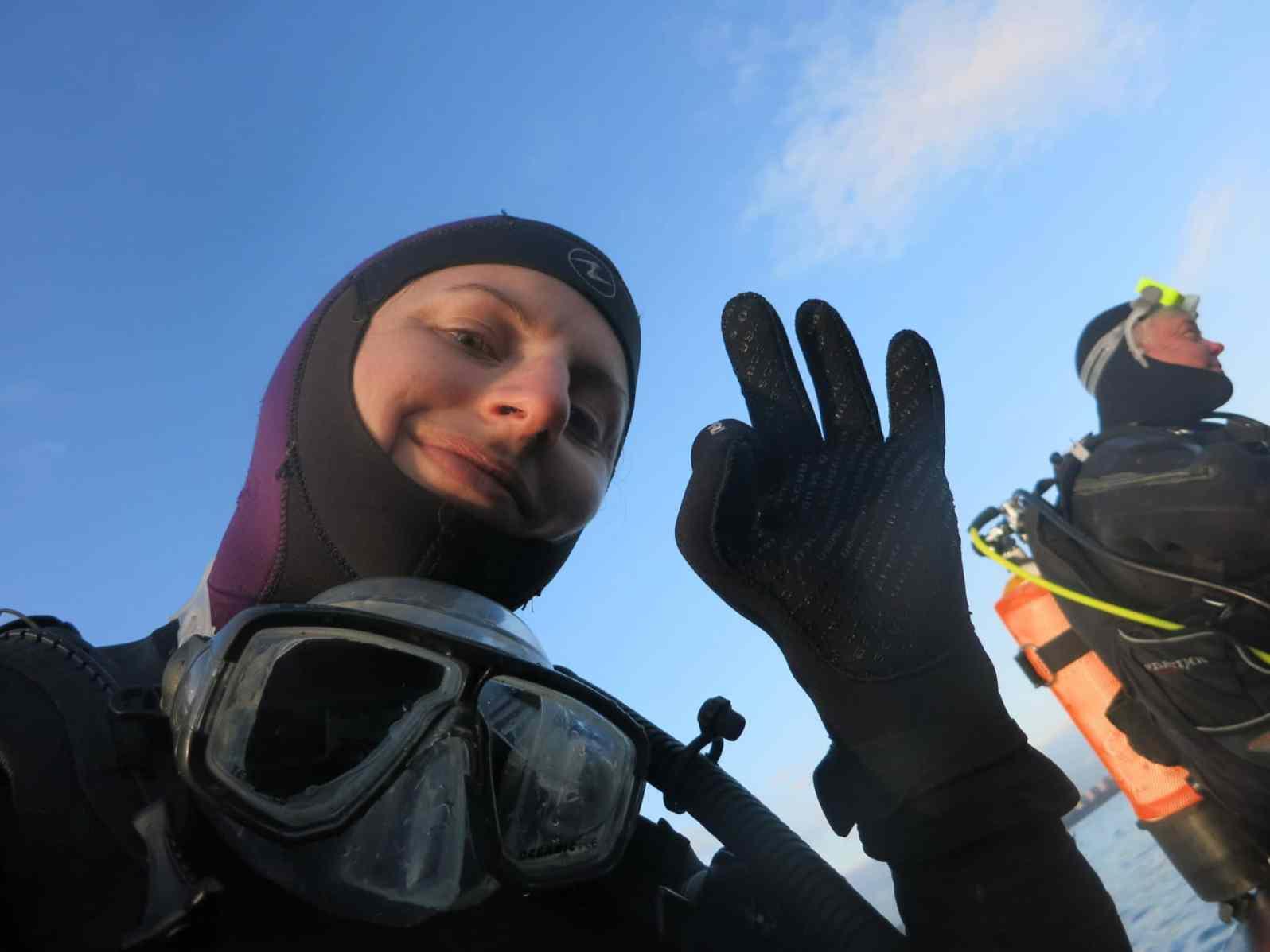 drysuit selfie scotland
