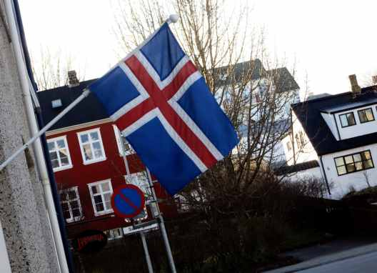 Icelandic Flag Reykjavik Iceland