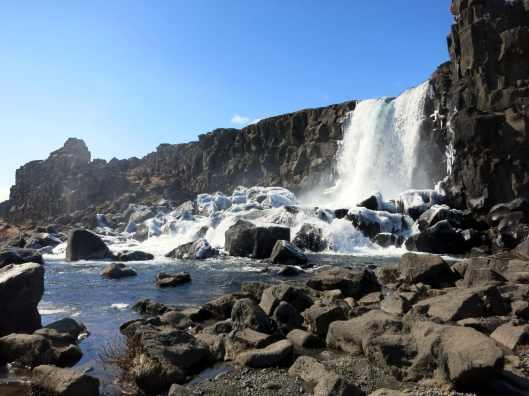 Oxararfoss waterfall Thingvellir Pingvellir Iceland