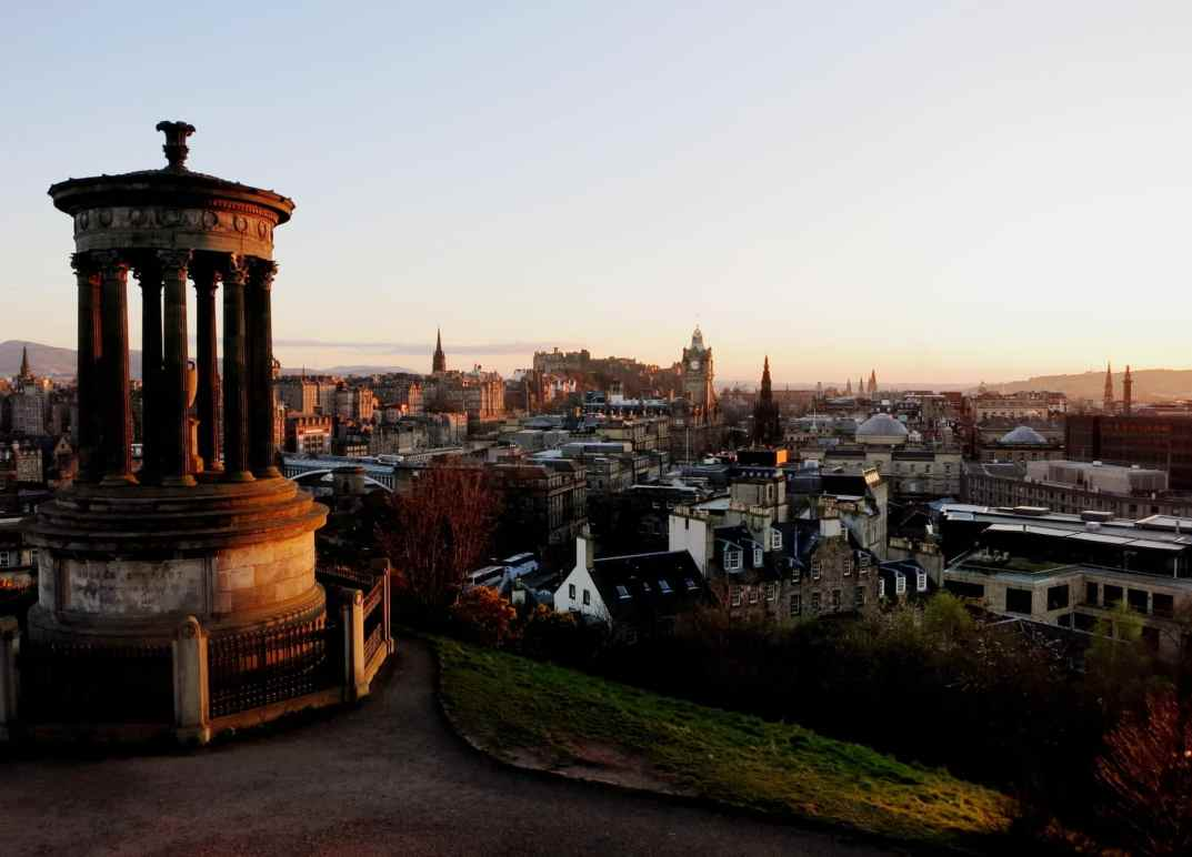 Edinburgh Calton Hill Sunset Scotland