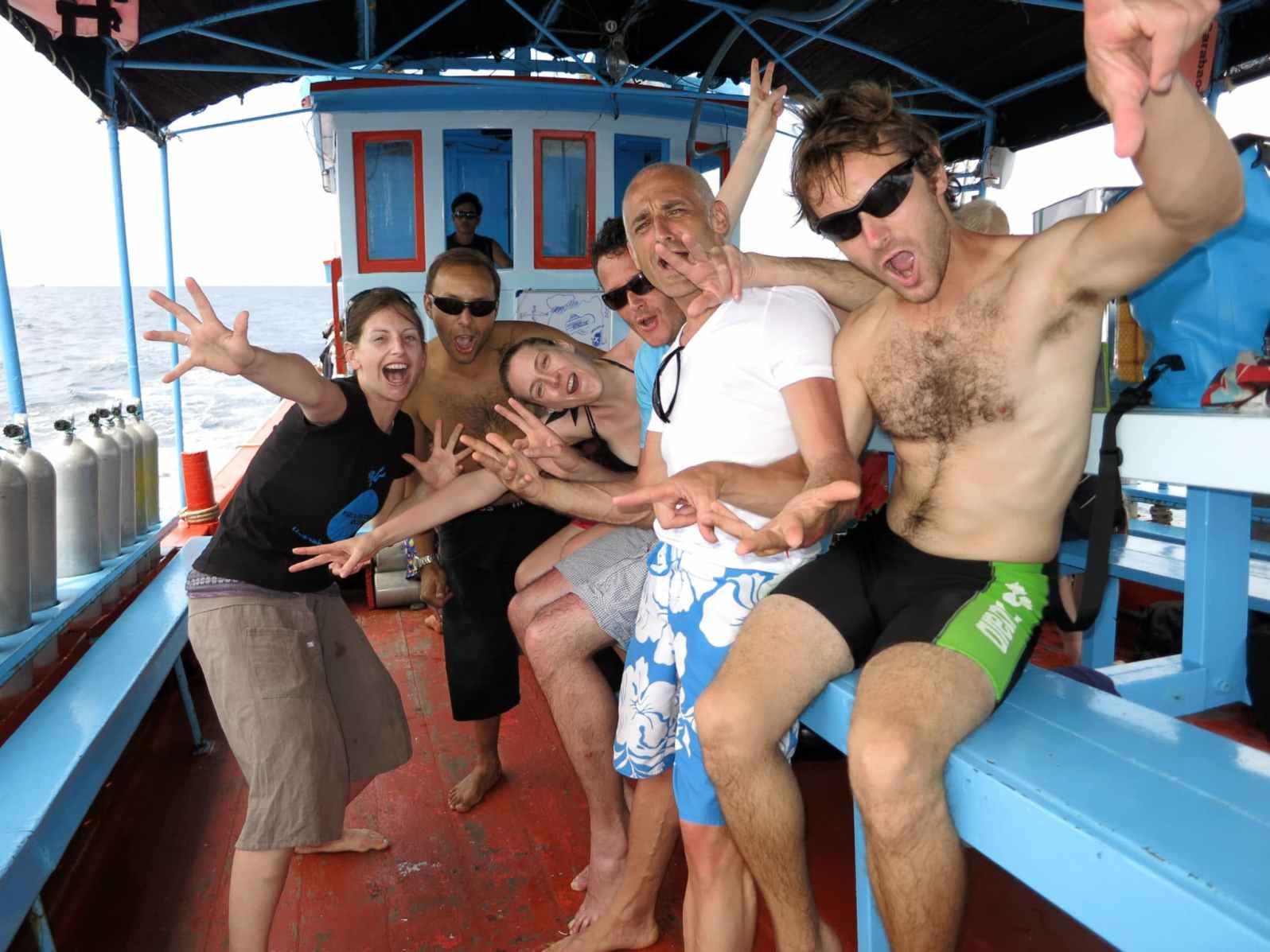 Florine Scuba diving in Koh Tao Thailand