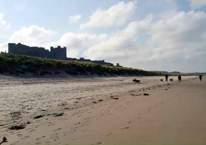 Bamburgh Beach England UK