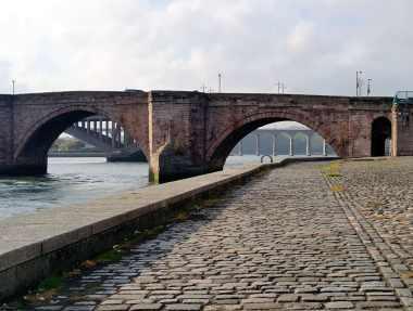 Berwick-upon-Tweed Quay Bridges England UK