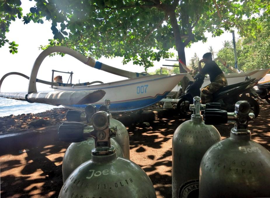Diving in Tulamben - Bali road trip itinerary