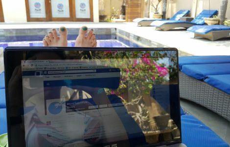 Blogging in Nusa Lembongan Bali
