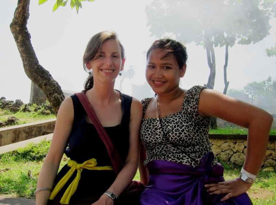 Best friends At Uluwatu temple
