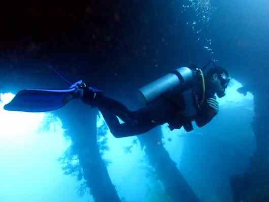 scuba diving Liberty wreck Tulamben Bali Indonesia