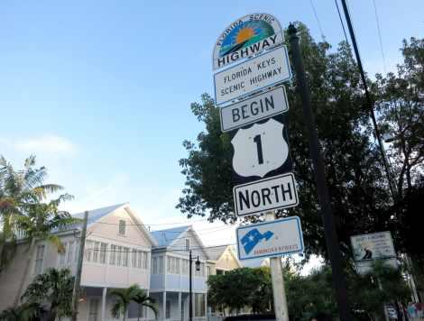Mile 0 OVerseas highway Key West Florida Keys