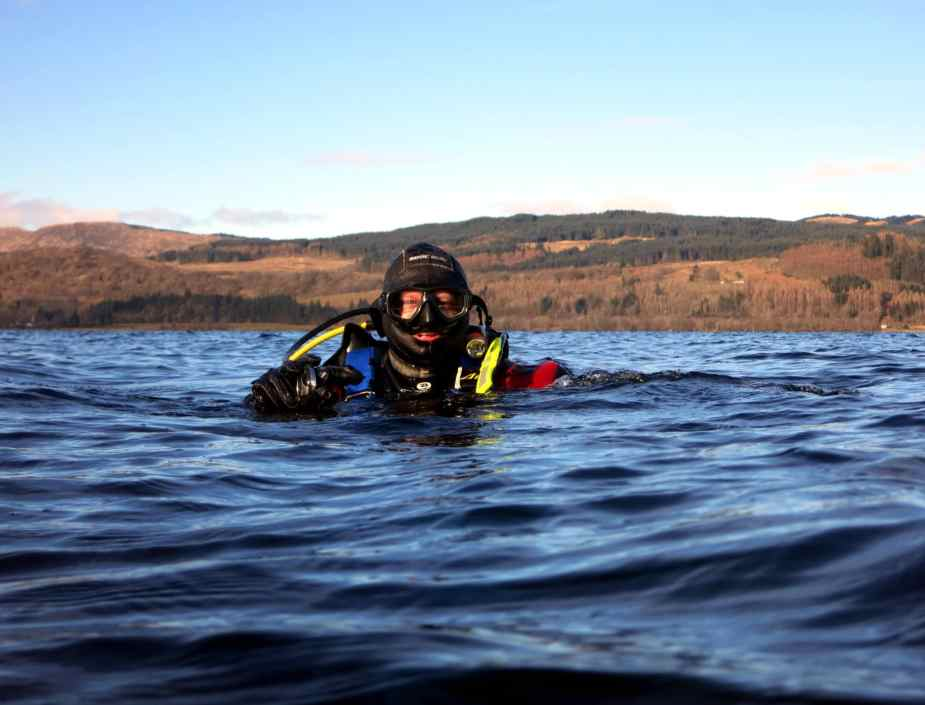 Shore diving sea lochs of Scotland - local diving