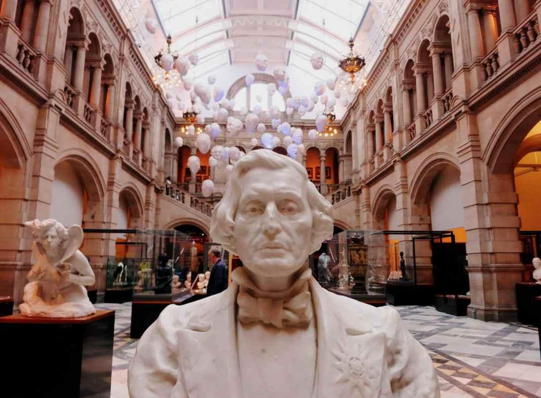 inside Kelvingrove Museum Glasgow Scotland