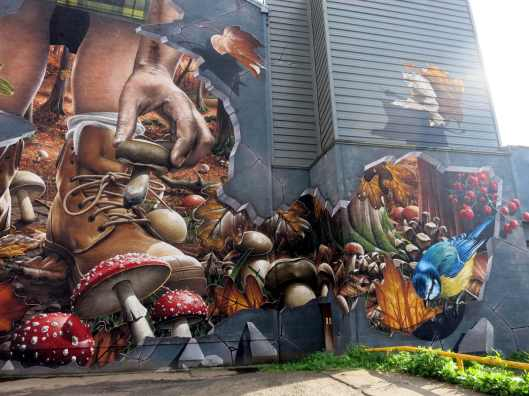Street art mural Ingam Street Merchants City Glasgow Scotland