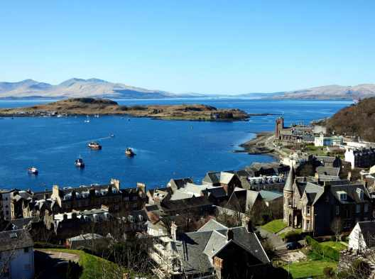 View from McCaig's Tower Oban Scotland