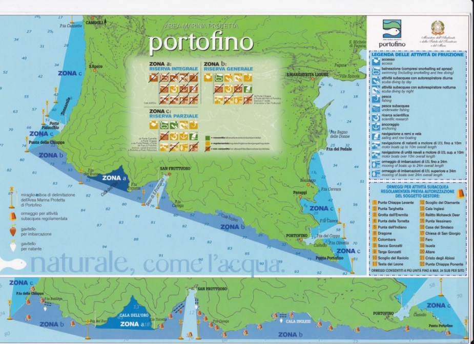 Portofino Marine Protected Area Map