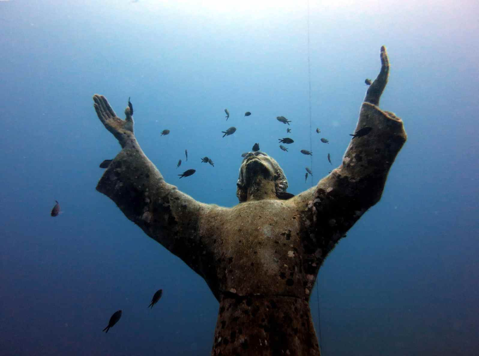 Christ of the Abyss / Cristo degli Abissi in San Fruttuoso Portofino Italy