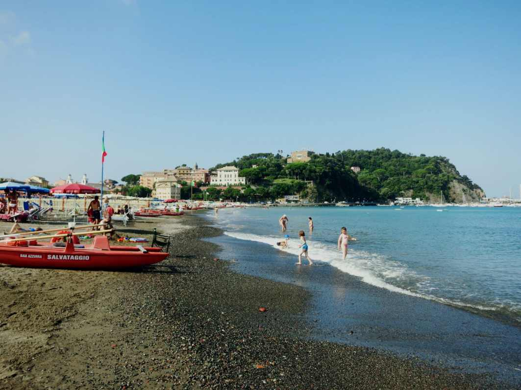 Sestri-Levante beach Italy