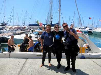 scuba diving in Portofino with Massub Italy