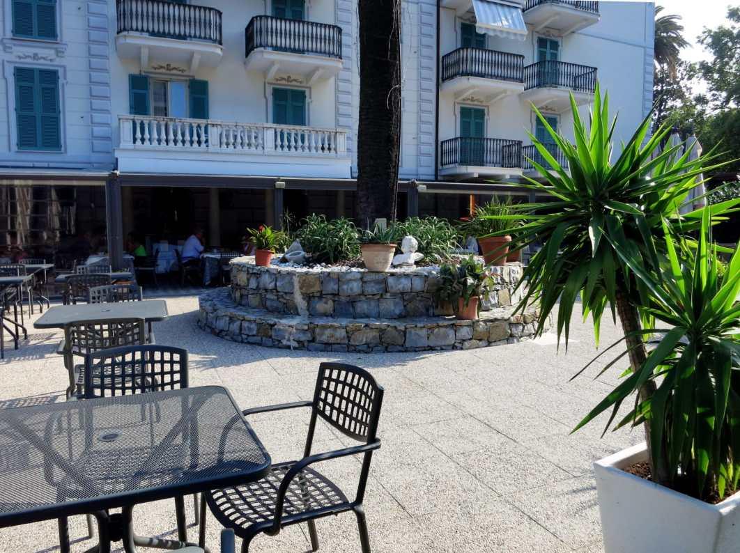 Garden Delfino Bianco Restaurant at Grande Albergo Hotel Sestri-Levante Liguria Italy