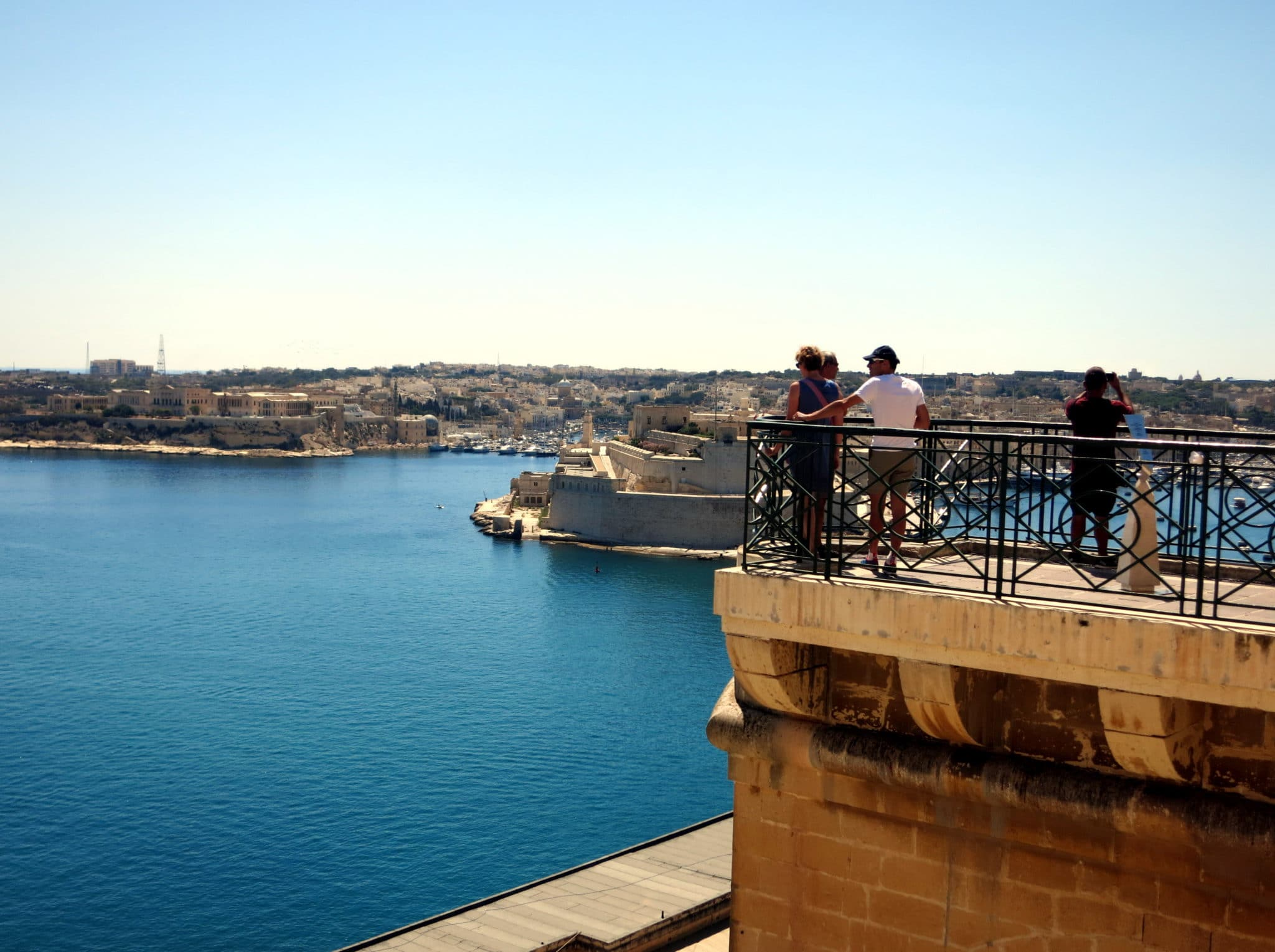 View from Upper Barraka gardens Valetta Malta