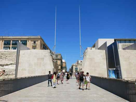 Weekend in Valletta Entrance Gate Malta