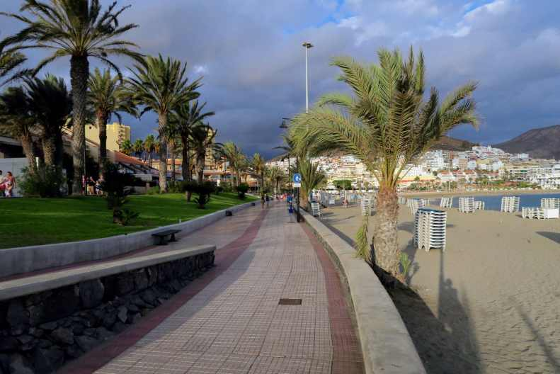 Playas de las Americas promenade Tenerife Canary Islands