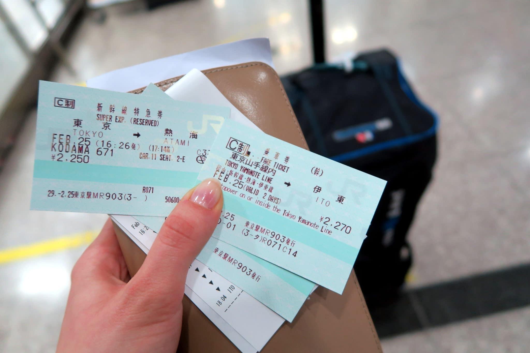 Taking the train from Tokyo to Izu Japan - Tokyo Main Station