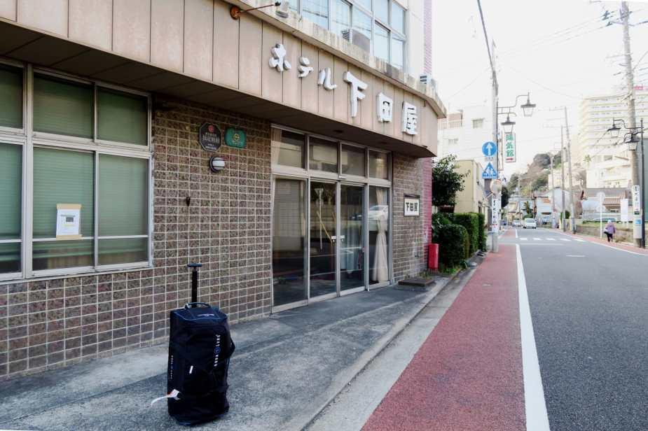 scuba diving bag - Shimoda ryokan Ito Izu Peninsula Japan
