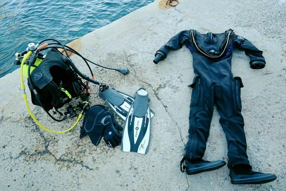 Aqua Lung Fusion Fit dry suit trial Toulon France