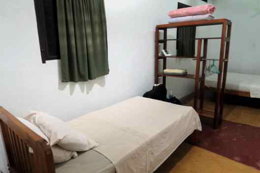 dorm room just for myself Omega Eco Lodge La Ceiba Pico Bonito National Park Honduras