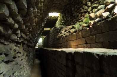 Inside the monument El Puente Ruins Copan Honduras