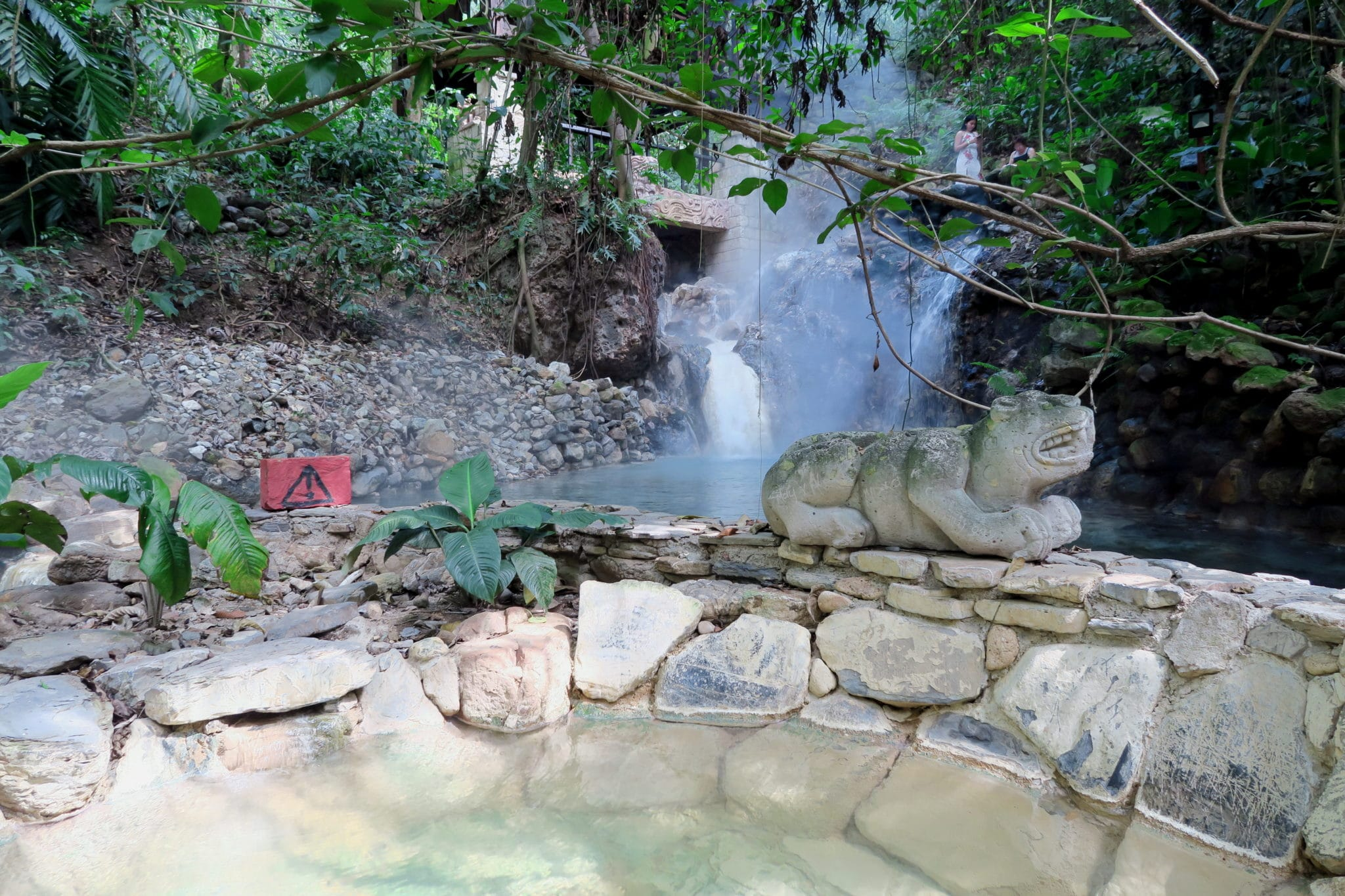 Natural hot spring mayan spa Copan Honduras