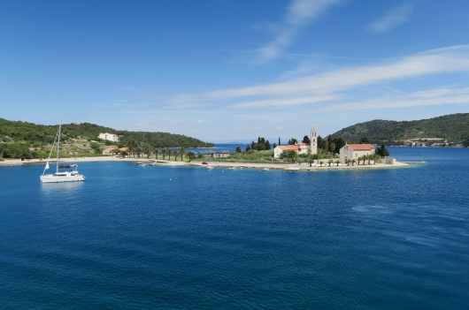 Arrival in Vis Island with the ferry Croatia