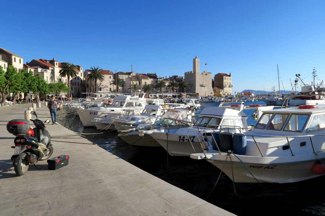 Port of Komiza Vis Island Croatia