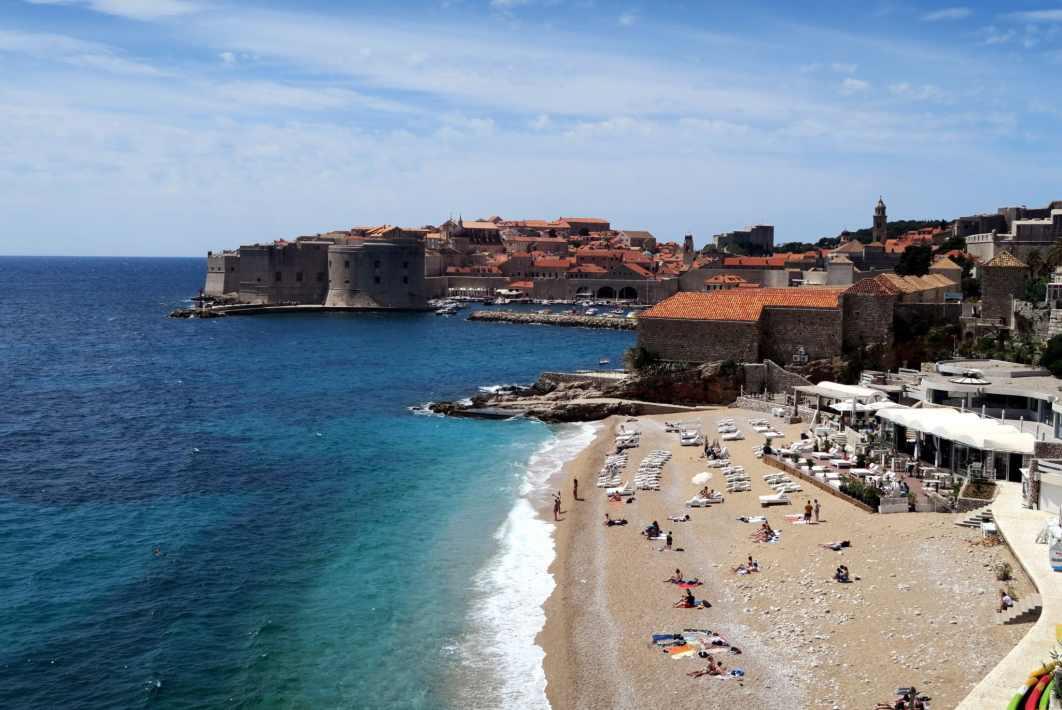 Dubrovnik view from Ploce Croatia