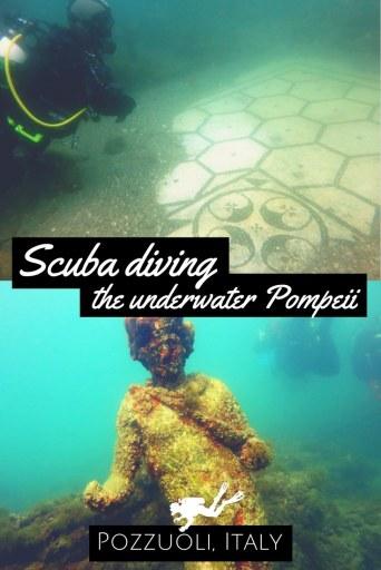 Scuba diving the underwater Pompeii in Pozzuoli Italy