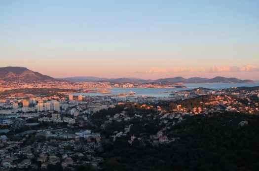 Sunset Toulon Bay France