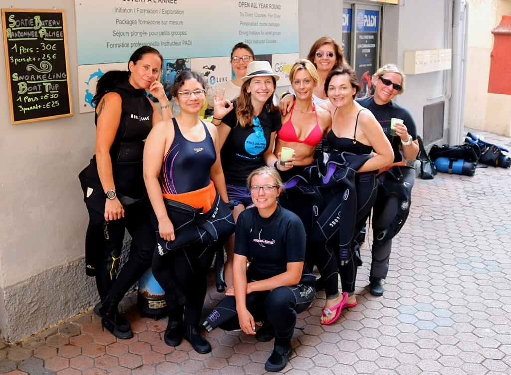 PADI Women's Dive Day at Diamond Diving French Riviera