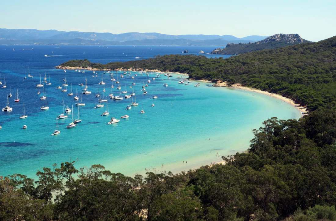 La Courtade Beach Porquerolles French Riviera Island France