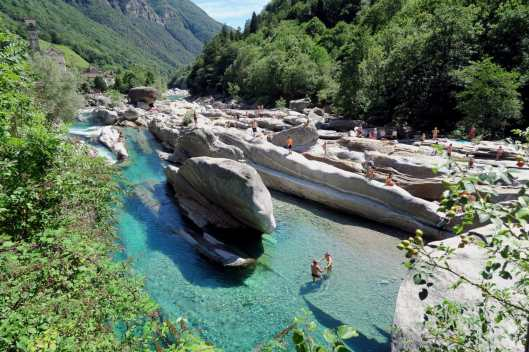 Scuba diving Verzasca River Switzerland