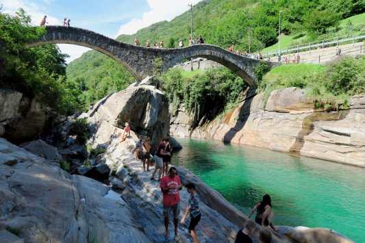 Scuba diving Verzasca River Switzerland