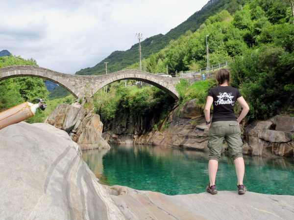 scuba diving in Verzasca River Switzerland