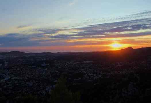 Sunset at Mount Faron Toulon France