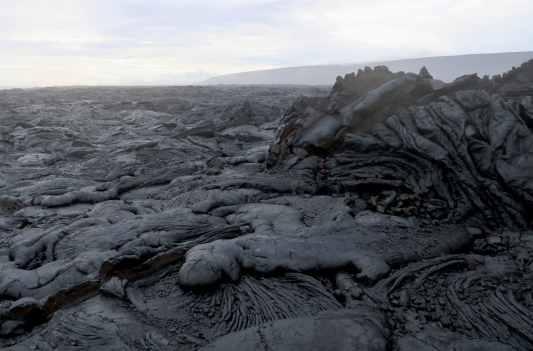 Pāhoehoe Lava crust Kilauea Volcano East Rift zone Hawaii
