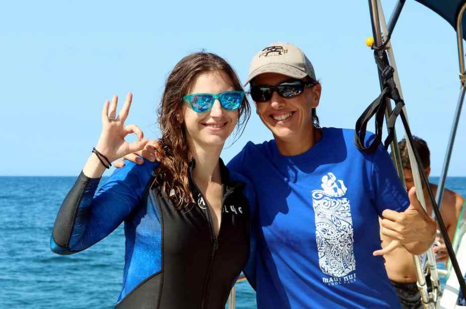 snorkelling or scuba diving we love Molokini Maui Hawaii