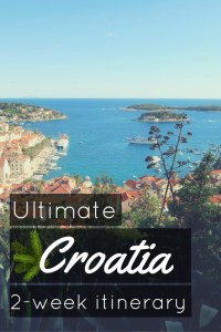 Ultimate Croatia 2 week itinerary