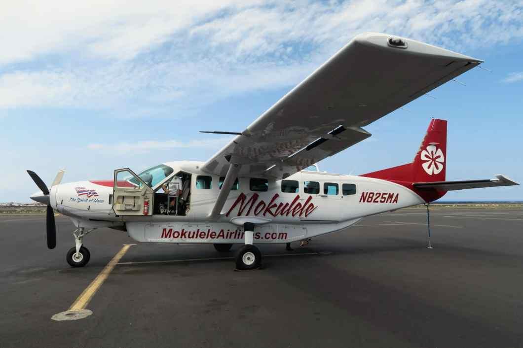 Mokulele flight between Maui and Big Island Hawaii