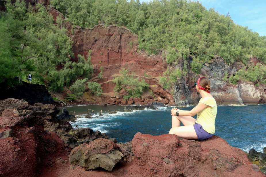 Red sand beach Road to Hana Maui Hawaii - Fun things to do in Hawaii