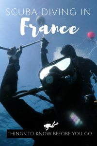 Scuba diving in France things to know before your go