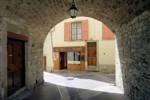Millau town centre Aveyron France