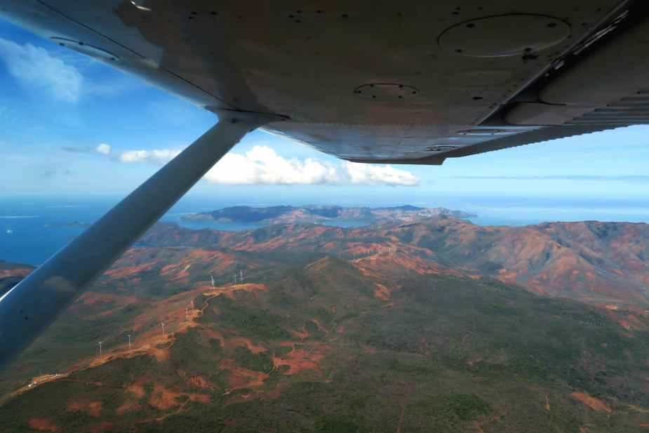 New Caledonia from the sky