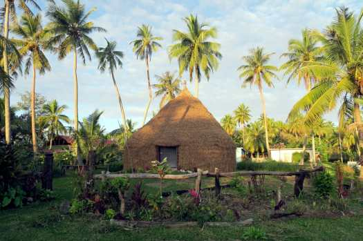 Traditional hut Lifou New Caledonia